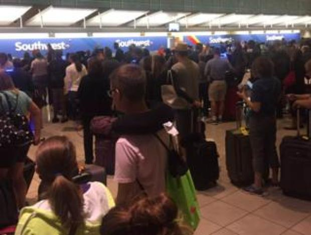 Queue at Southwest check-in