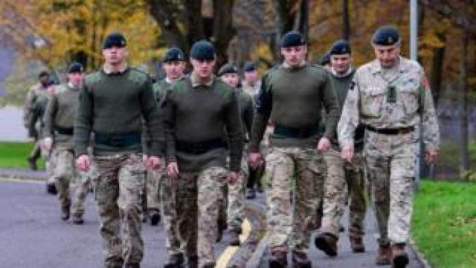 Soldiers from 3 Rifles