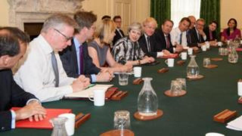 Theresa May and her cabinet