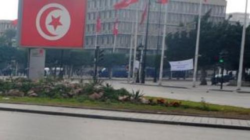 Mohamed V avenue in Tunis on 14 January 2011