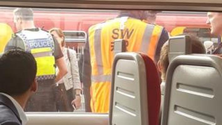 Police at Wimbledon station