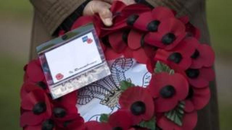 a poppy wreath