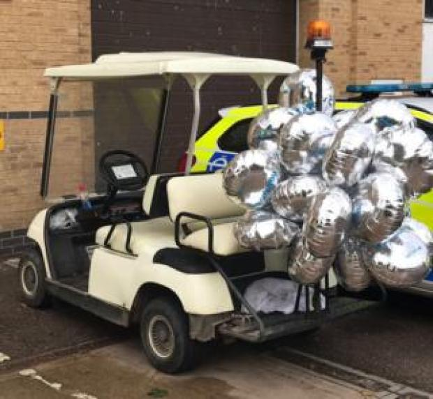 The stolen golf buggy