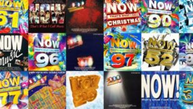 Montage of Now That's What I Call Music covers (courtesy of NOW Music)