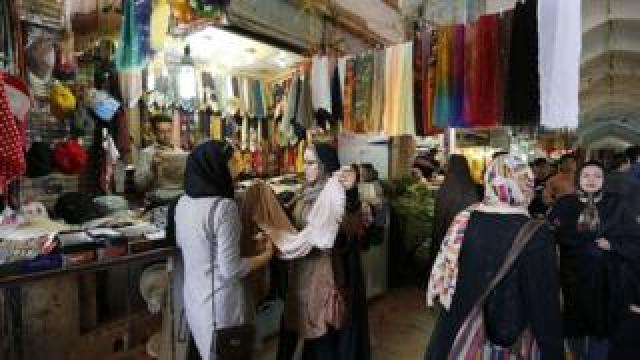 Bazaar in Sirjan, southern Iran