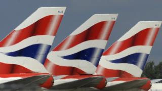 British Airways planes at Heathrow