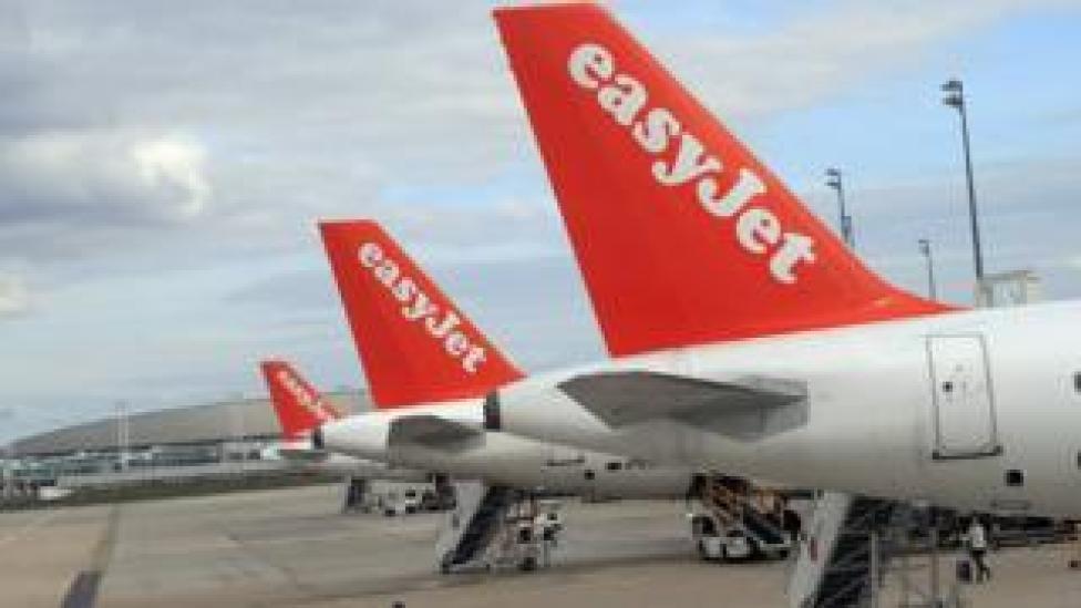 easyJet plane tails