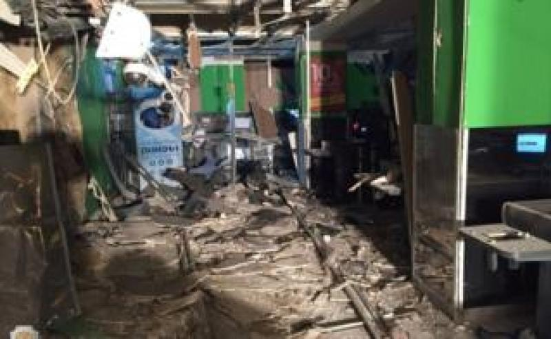 Interior view of supermarket after an explosion in St Petersburg, Russia, in photo released by National Anti-Terrorism Committee on December 28, 2017