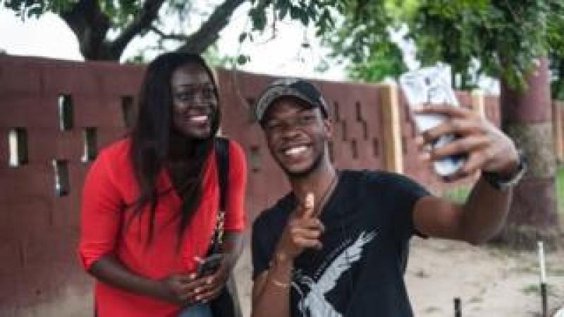 Selfie being taken in Lagos, Nigeria