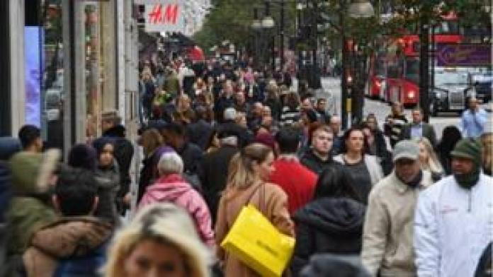 Shoppers on Oxford St