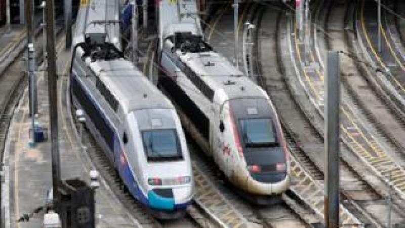 Trains at SNCF's Charenton-le-Pont depot near Paris, 12 Mar 18