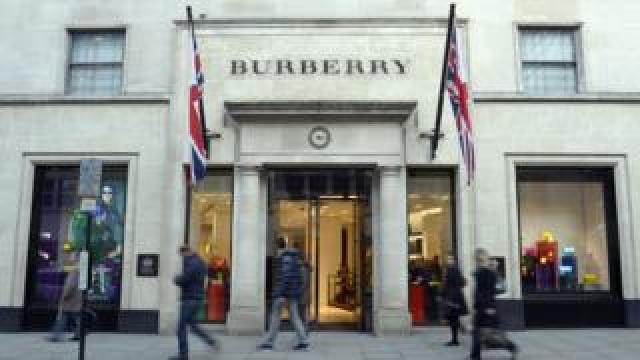 Burberry shop in New Bond Street, London