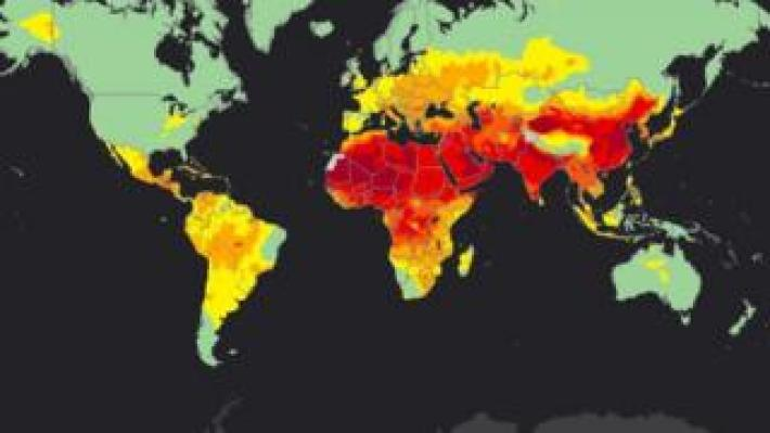 The interactive maps provide information on population-weighted exposure to particulate matter of an aerodynamic diameter of less than 2.5 micrometres (PM2.5) in 2014.
