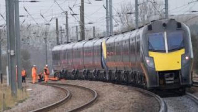 Stranded train