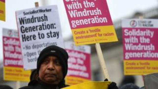 Windrush Generation solidarity protest