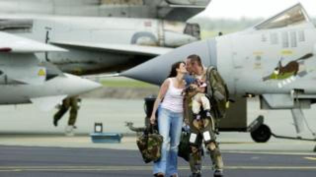 RAF pilot and wife
