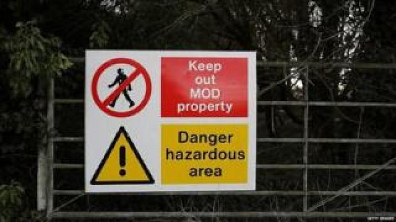 Sign outside Porton Down
