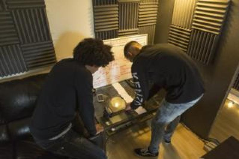 Local Geezers in their studio