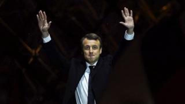 Macron after win