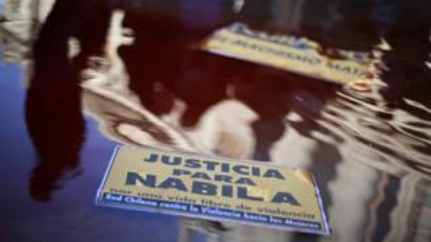 "A sign at a protest reading ""Justice for Nabila"""