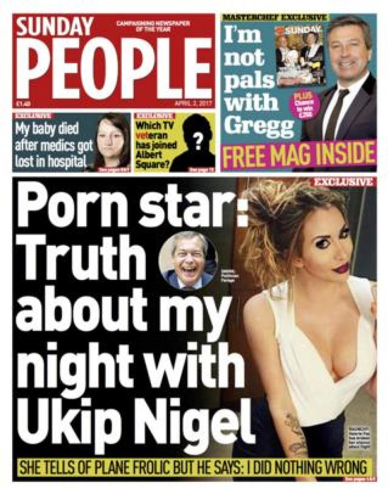 Sunday People front - 02/04/17