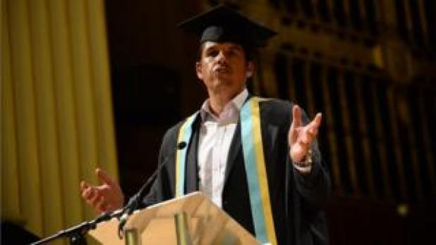 Chris Coleman receiving his honorary fellowship