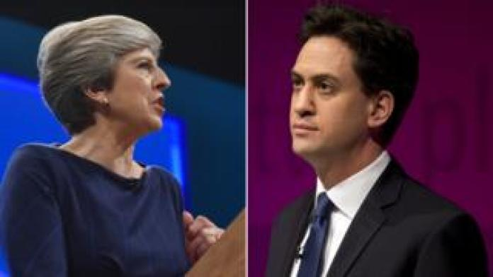 Theresa May and Ed Miliband composite picture