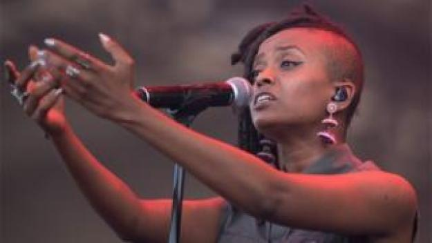 Ethiopian-American singer Kelela performs during Quebec City Summer Festival on July, 15 2017 in Quebec City, Canada.