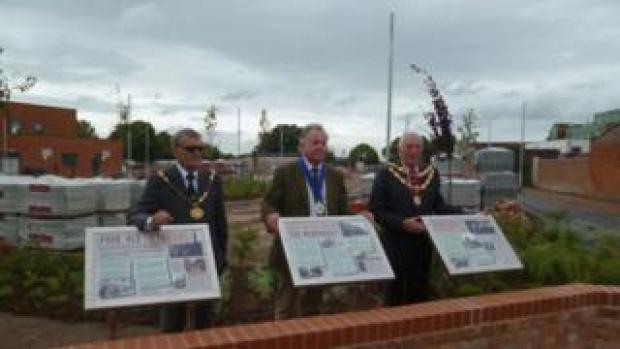 l-r Cllr Mike Cresswell, Cllr William Wallace and Cllr Graham Granter