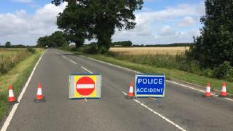 The road closure at Hethel