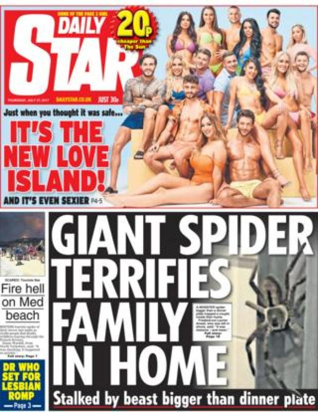 Daily Star front page - 27/07/17