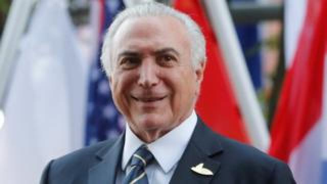 Brazilian President Michel Temer pictured at the G20 summit in Hamburg, Germany on 7 July, 2017.