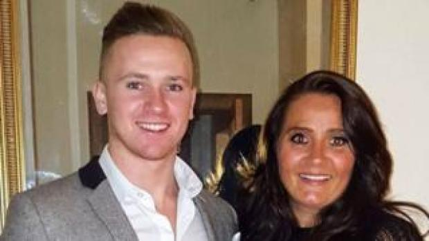 Corrie Mckeague with his mother Nicola Urquhart