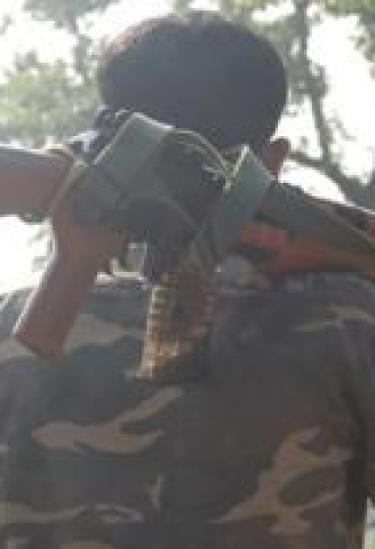 माओवादी इलाक़े में तैनात पुलिस जवान