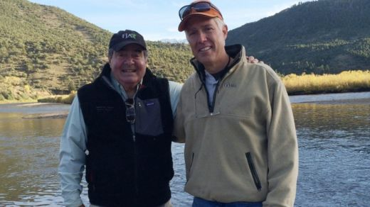 Late Supreme Court Justice Antonin Scalia (L) with Neil Gorsuch on a trip in Colorado in 2014