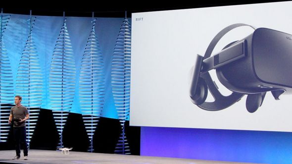 Mark Zuckerberg presents the Oculus Rift
