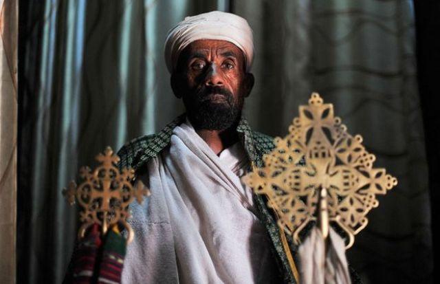 Un cristiano ortodoxo de Etiopía.