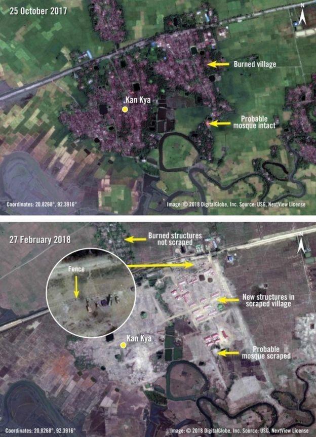 Desa yang dihuni Rohingya menurut Amnesty