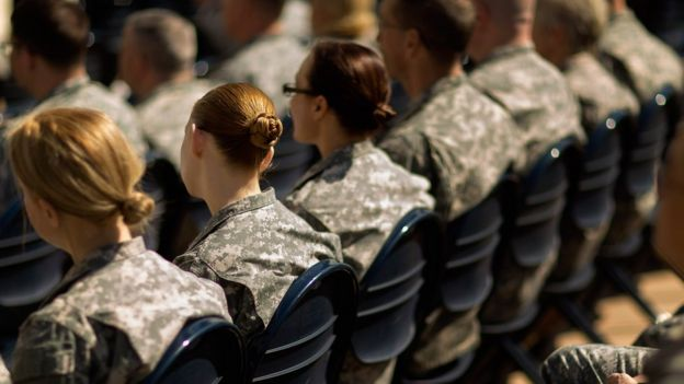 Soldiers, officers and civilian employees attend the commencement ceremony for the U.S. Army's annual observance of Sexual Assault Awareness and Prevention Month in the Pentagon Center Courtyard March 31, 2015 in Arlington, Virginia