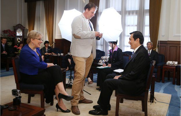 Carrie Gracie and President Ma