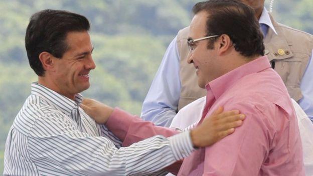 El exgobernador Javier Duarte era muy cercano al presidente Enrique Peña Nieto.