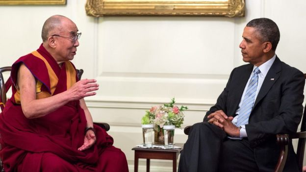 The Dalai Lama and President Obama