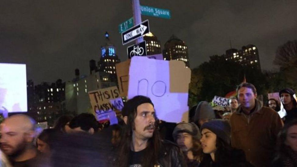 Anti- Trump march in New York