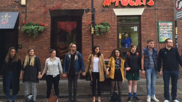 A tribute is staged in Manchester's gay village
