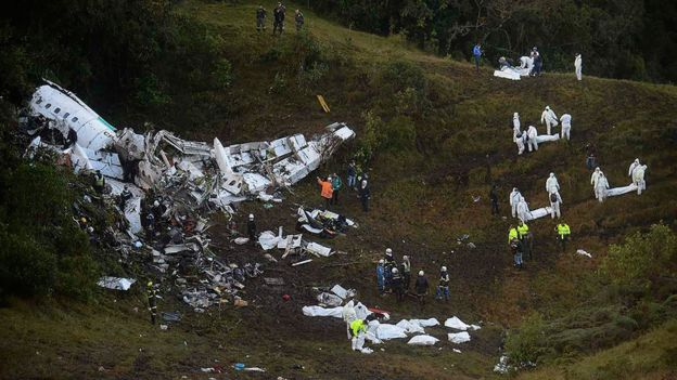 Local do acidente do voo da Chapecoense