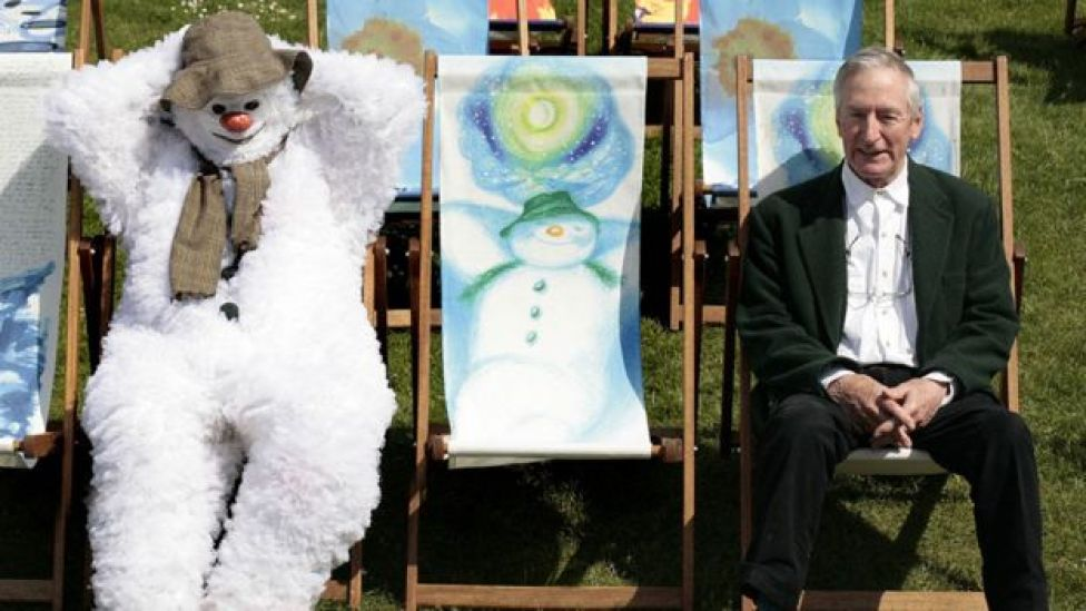 Raymond Briggs with 'The Snowman' in 2008