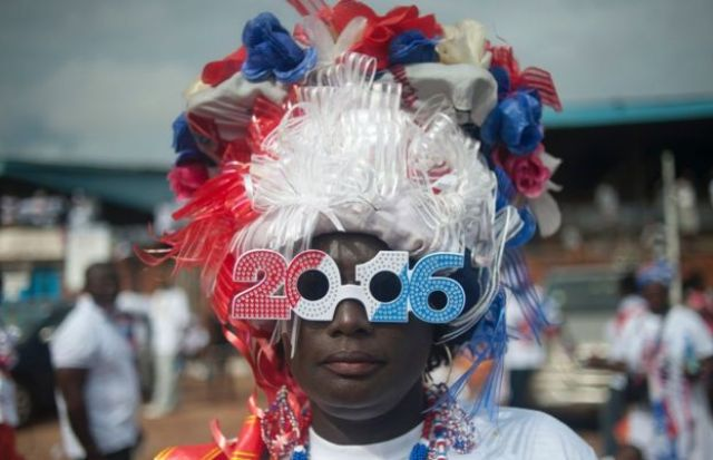 A supporter of Ghana