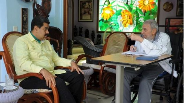 Fidel Castro meets with Venezuelan President Nicolas Maduro