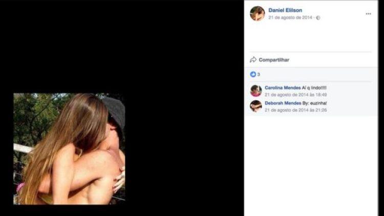 Captura de tela de perfil falso no Facebook
