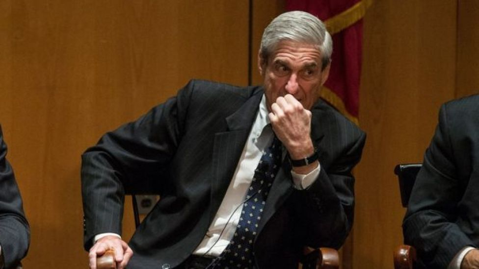 Robert Mueller during a panel discussion.